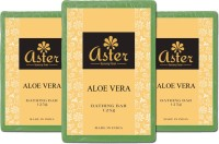Aster Luxury Aloe Vera Premium Natural Bathing Bar - Set Of 3 (375 G)