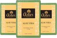 Aster Luxury Aloe Vera Premium Natural Bathing Bar - Set Of 3 (375 G)