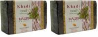 Khadi Mauri Basil(Tulsi) Soap - Pack Of 2 - Premium Handcafted Herbal (250 G)