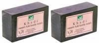 Khadi Mauri Neem Tulsi Soap - Pack Of 2 - Premium Handcafted Herbal (250 G)