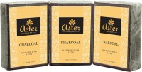 Aster Luxury Charcoal Bathing Bar 125g - Pack Of 3 (125 G)