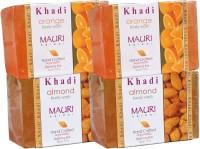 Khadi Mauri Almond & Orange Soaps Twin Pack Of 4 Herbal Ayurvedic Natural (500 G)