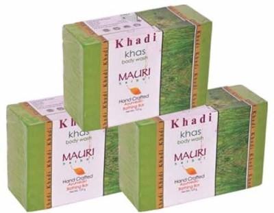 Khadi Mauri Khas Soap Pack of 3 Premium Handcafted Herbal