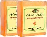 Aloe Veda Moisturising Bathing Bar Ylang Ylang Pack of 2