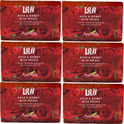 Lass Naturals Rose And Honey With Patels Handmade Soap (Pack Of 6) (750 G)