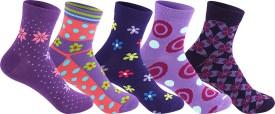 Supersox Women's Self Design Ankle Length Socks - SOCEEDY367GJG3NB