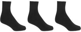 Crystal Men's Solid Ankle Length Socks Pack Of 3