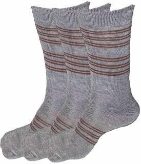 Alfa Men's Striped Crew Length Socks (Pack Of 3)