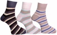 A&G Men's Striped Ankle Length Socks - Pack Of 3 - SOCDYPY7TKCVVAWK