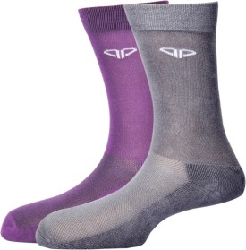 Pinellii Pinellii Italian Terry Airflow 4 Purple & Dark Grey Socks For Men's Men's Solid Mid-calf Length Socks Pack Of 2