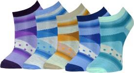 Gen Women's Graphic Print Footie Socks (Pack Of 5)