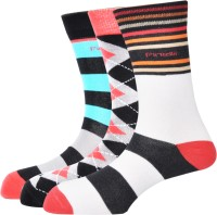 Pinellii Men's Striped Crew Length Socks - Pack Of 3 - SOCEFNTEJHAFCC3H