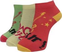 A&G Women's Self Design Ankle Length Socks - Pack Of 3