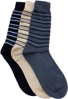 Marc Men's Striped Crew Length Socks - Pack Of 3