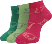 A&G Women's Self Design Ankle Length Socks - Pack Of 3 - SOCE2H6UYBS4YDVY