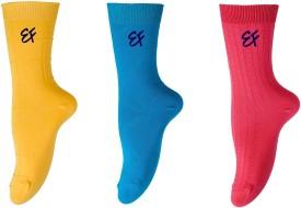 Ezzi Feet Women's Solid Crew Length Socks