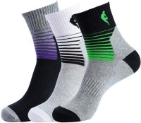 NBA Men's Striped Crew Length Socks - Pack Of 3 - SOCDYTMCBVX3TGHE