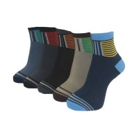 A&G Men's Striped Ankle Length Socks - Pack Of 5