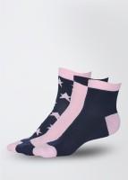American Swan Women's Printed Ankle Length Socks Pack of 3