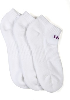 HRX By Hrithik Roshan Women's Solid Footie Socks Pack Of 3