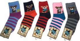 NHZ Boy's Printed Crew Length Socks