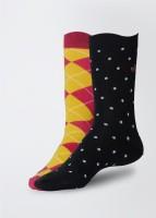 Arrow Women's Geometric Print Crew Length Socks Pack of 2