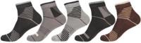 KHI Men's Striped Ankle Length Socks - Pack Of 5 - SOCEY6JYJD9HCHSX