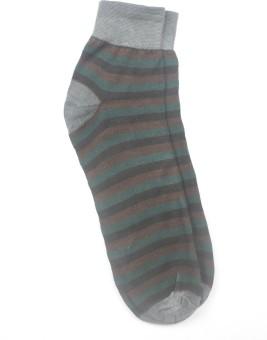 YellowMellow Men's Striped Ankle Length Socks