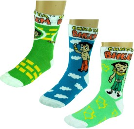 Chhota Bheem Knee Length Socks – Boys Boy's Printed Knee Length Socks Pack Of 3