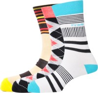 Pinellii Men's Striped Crew Length Socks - Pack Of 3 - SOCEFNTE6KVXEHX2