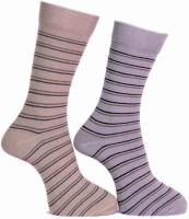 A&G Men's Striped Crew Length Socks - Pack Of 2