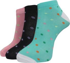 A&G Premium Women's Self Design Ankle Length Socks (Pack Of 3)
