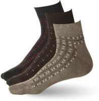 Stellen Men's Striped Ankle Length Socks - Pack Of 3 - SOCE2NM8YUFHVKCV