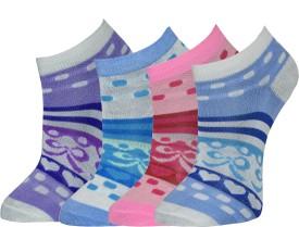 Gen Women's Graphic Print Footie Socks (Pack Of 4)