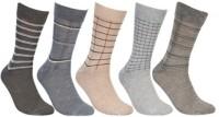 KHI Men's Striped Crew Length Socks - Pack Of 5 - SOCEY6JYGY2GGKKF