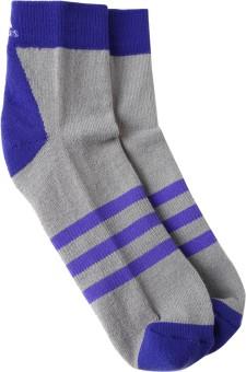 Adidas Women's Self Design Mid-calf Length Socks - SOCEAFFFYZRSQMJR