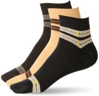 Stellen Men's Striped Ankle Length Socks - Pack Of 3 - SOCE2NMBRM5K6MQY