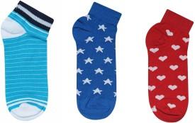 JamsSocks Women's Self Design, Striped Ankle Length Socks