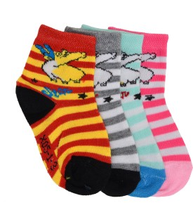 Welwear Baby Boy's, Baby Girl's Printed Ankle Length Socks Pack Of 4