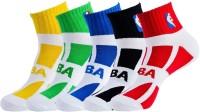 NBA Men's Striped Ankle Length Socks - Pack Of 5 - SOCDYTMCSUTCRGXS