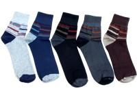 Gen Men's Solid, Striped Ankle Length Socks - Pack Of 5