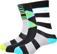 Pinellii Men's Striped Crew Length Socks - Pack Of 3 - SOCEFNTE8FXSAQAQ