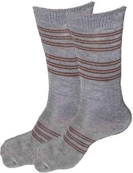 Alfa Men's Striped Crew Length Socks (Pack Of 2)
