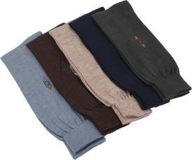 Jee Tex Men's Solid Crew Length Socks (Pack Of 5)