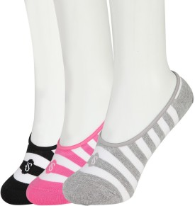American Swan Women's Striped Footie Socks Pack Of 3