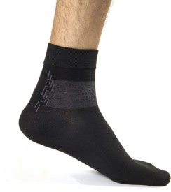 CottonFlake Men's Striped Ankle Length Socks