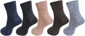 RC. ROYAL CLASS Men's Solid Ankle Length Socks