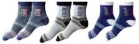 Garg Sport Men's Striped Ankle Length Socks - Pack Of 3