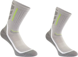 Quechua Forclaz High 100 Men's Printed Ankle Length Socks Pack Of 2