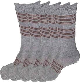 Alfa Men's Striped Crew Length Socks (Pack Of 5)